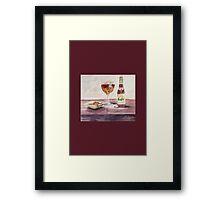 Leffe Blonde Card Framed Print