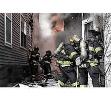 Firefighters In The Line Of Duty Photographic Print