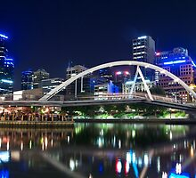Yarra at night by Llewellyn Cass