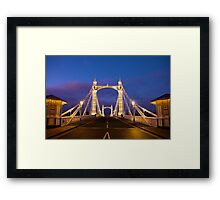Albert Bridge, London - Straight Framed Print