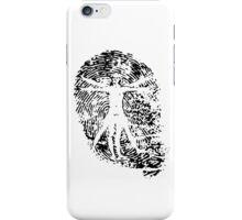Vitruvian Man Fingerprint (Light) iPhone Case/Skin