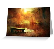 A place to ponder ....... Greeting Card