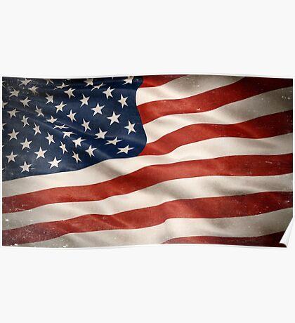 Grunge USA Flag Poster