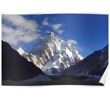 Early Morning Sun on K2, Concordia, Karakorum Poster