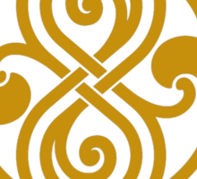 shirt of rassilon -gold Sticker