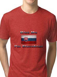 Kiss Me I'm Slovakian Tri-blend T-Shirt