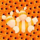 Playing in orange by Koekelijn