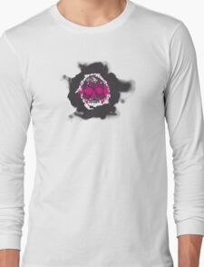 Death's-head fuchsia Long Sleeve T-Shirt
