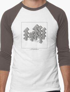 Shubie Shadow Forest Men's Baseball ¾ T-Shirt