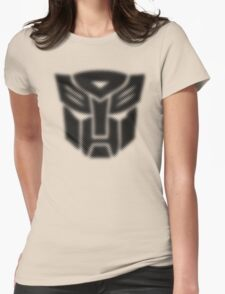 Halftone Autobot Symbol, Black Womens Fitted T-Shirt