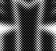 Halftone Autobot Symbol, Black Sticker
