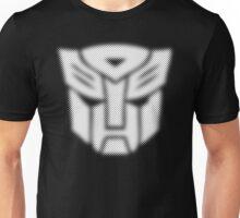 Halftone Autobot Symbol, White Unisex T-Shirt