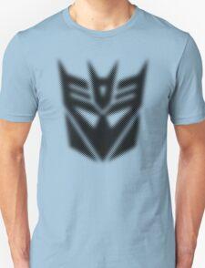Halftone Decepticon Symbol, Black T-Shirt