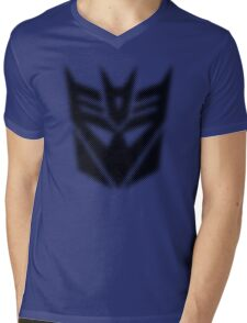 Halftone Decepticon Symbol, Black Mens V-Neck T-Shirt