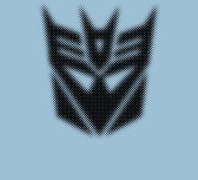 Halftone Decepticon Symbol, Black Unisex T-Shirt