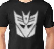 Halftone Decepticon Symbol, White Unisex T-Shirt