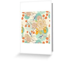 Peony Flower Pattern Greeting Card