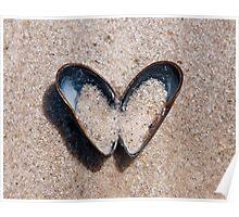mussel heart Poster
