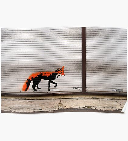 Urban Fox, by Stewy Poster