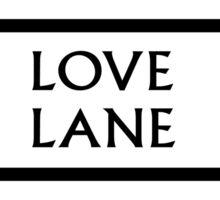 Love Lane, London Street Sign, UK Sticker