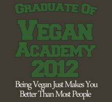 Scott Pilgrim - Vegan Academy Graduation Shirt by AlexNoir