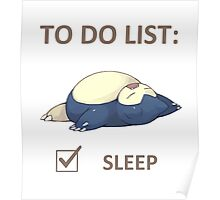 to do list _snorlax Poster
