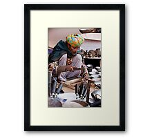 Meticulous Metal Worker Framed Print