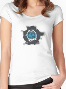 Death's-head blue Women's Fitted Scoop T-Shirt
