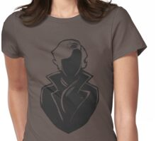 Sherlock Silhouette (Dark Grey) Womens Fitted T-Shirt