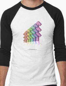 Shubie Rainbow Forest Men's Baseball ¾ T-Shirt