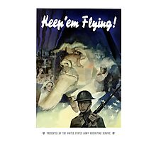 Uncle Sam -- Keep 'Em Flying Photographic Print
