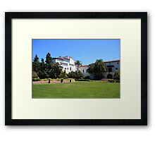 Courthouse yard Framed Print