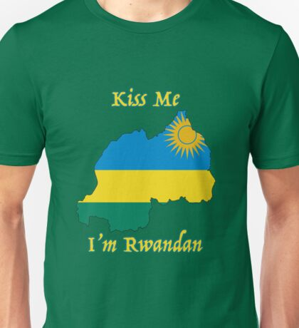 Kiss Me I'm Rwandan Unisex T-Shirt