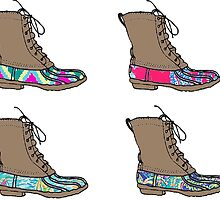 lilly bean boot sticker pack by Emily Grimaldi
