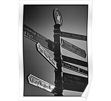 Illuminated Signpost Poster