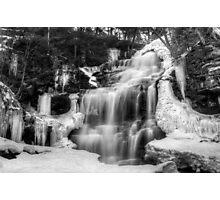 Ganoga Falls in Winter Photographic Print