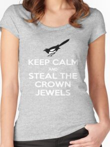 Keep Calm and Steal the Crown Jewels Women's Fitted Scoop T-Shirt