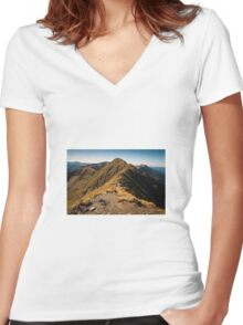 Mountain Women's Fitted V-Neck T-Shirt