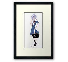 Ayanami Rei Evangelion Framed Print