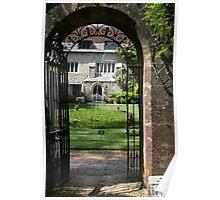 Arch at Athelhampton House Poster