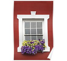 Windows and Wall Triptych Canvas II Poster