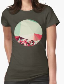 Poppy Field Tris Womens Fitted T-Shirt