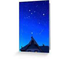 Cygnus the Swan and the Summer Triangle Greeting Card