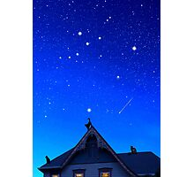 Cygnus the Swan and the Summer Triangle Photographic Print