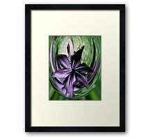 Purple Swoon Framed Print