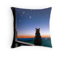 Virgo at Dawn's Light Throw Pillow