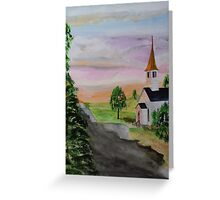 Evening Shadows Greeting Card