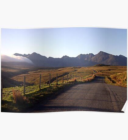 The Road to the Cuillin, Skye Poster