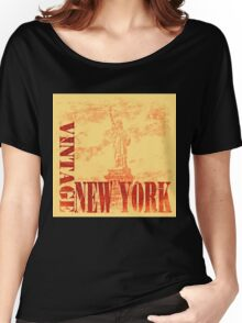Vintage Statue Of Liberty, New York T-Shirt Women's Relaxed Fit T-Shirt