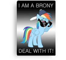 Rainbow Dash Brony Canvas Print